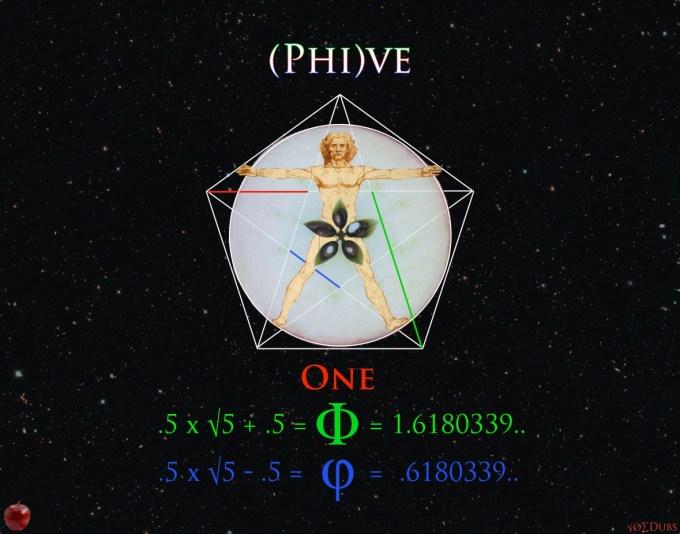Phi Golden Ratio Fibonacci phive phi five