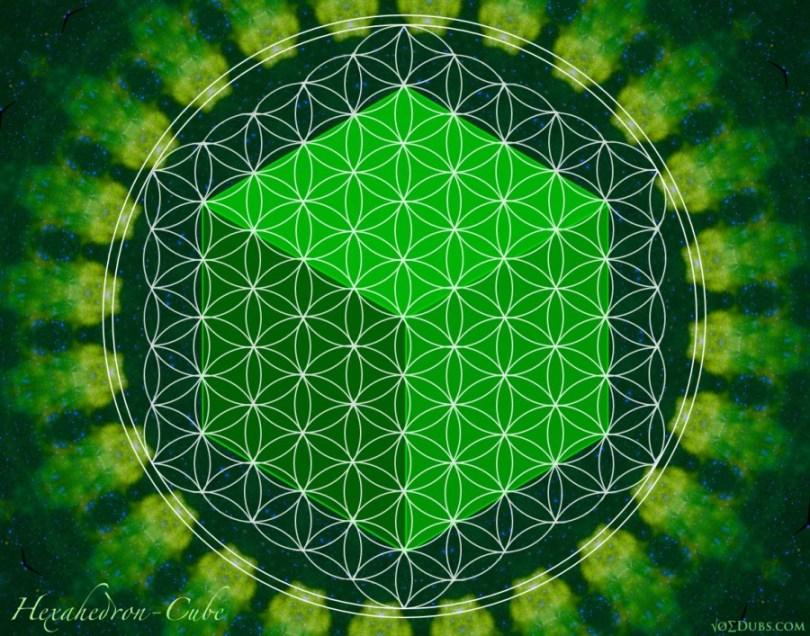 cube hexahedron Earth