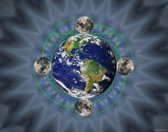 Earth Moon Art