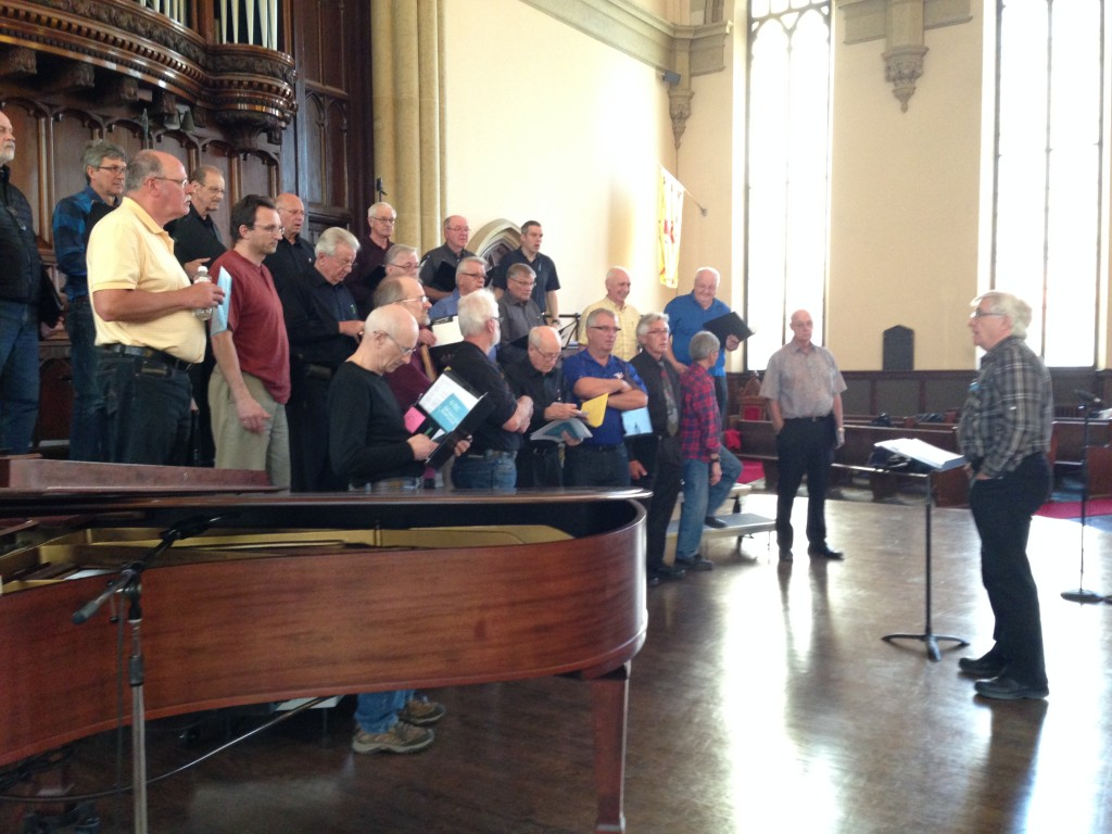 Men's Choir conducted by Henry Engbrecht