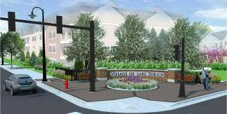Courtesy of village of Lake ZurichA small park is proposed for the northwest corner of Main Street and Old Rand Road in downtown Lake Zurich.