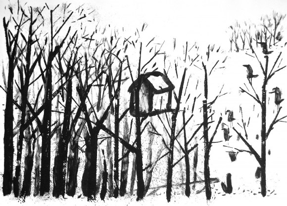 """Newcomers, Monotype 15x21"""", 2011"""