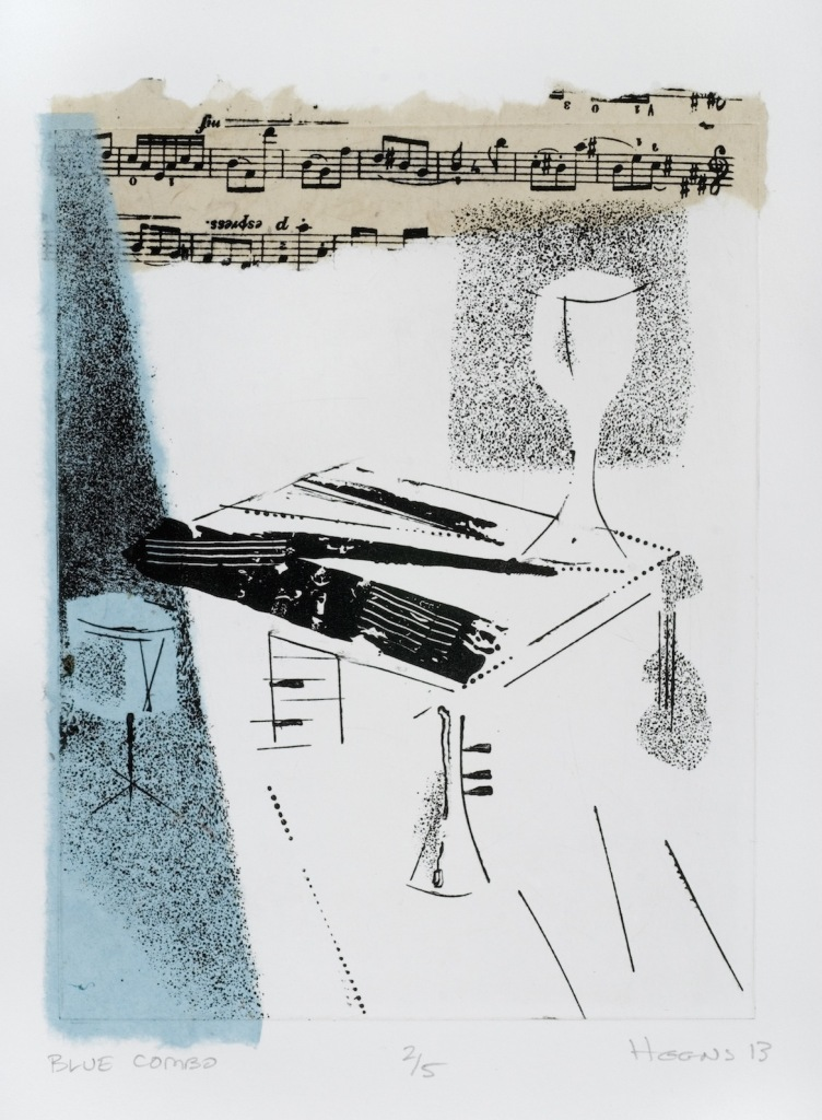 Blue Combo Small (etching)