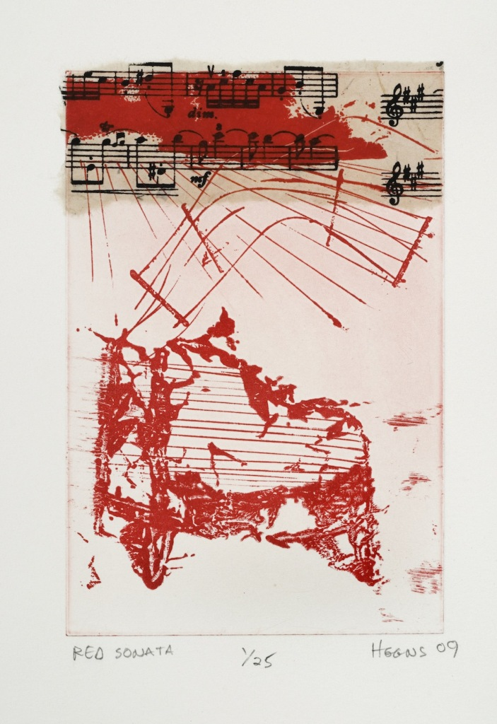 Red Sonata Small (etching)