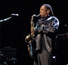 """The Big Man,"" Clarence Clemons was an amazing sax player. Image by Jamison Foser derivative work: Arbor to SJ [CC BY 2.0 (http://creativecommons.org/licenses/by/2.0)], via Wikimedia Commons."