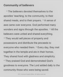Screenshot of Acts 2:42-47