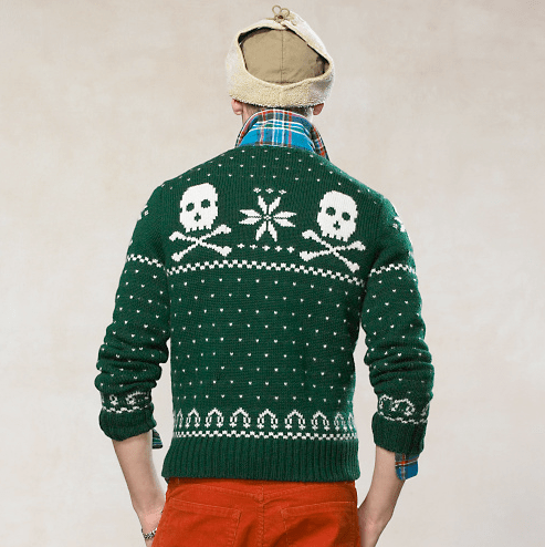 Skull Intarsia Wool Sweater BACK