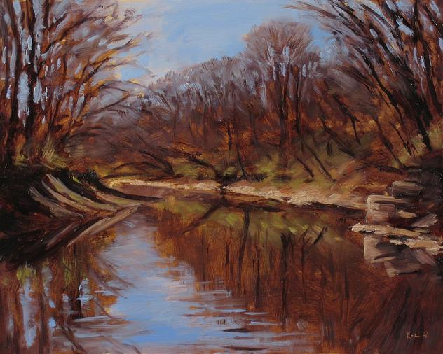 Early Spring in Neshanic, NJ by local artist Joe Kazimierczyk
