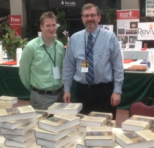With Mark Jones at the Book Table