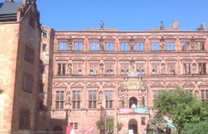 Part of the Heidelberg Castle