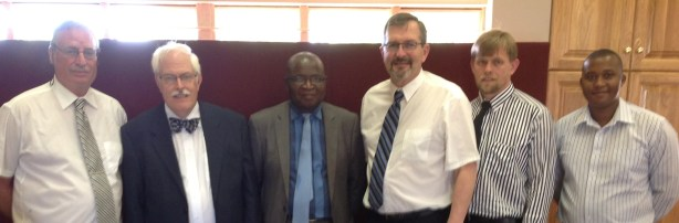 With Dr. Miskin (left) and consistory