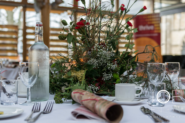 Thrive Christmas Party table decorations