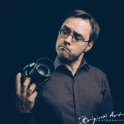 Personal Branding - Joe Lenton with camera - comic profile pic