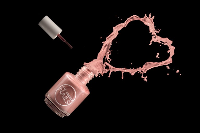 Splash effect with nail polish special effect photography