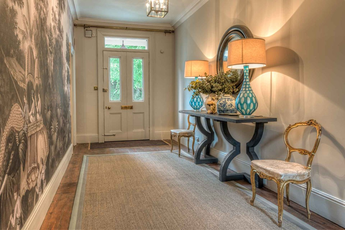 Hallway with lamps - interior architectural photography sample of residential photography