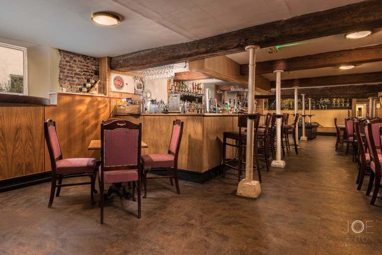 Rathskeller bar final image - balancing light in architectural photography