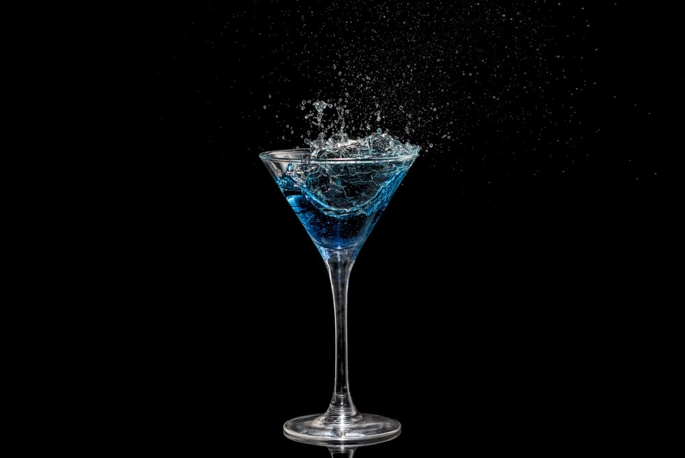 Drinks Photography - cocktail glass with splash