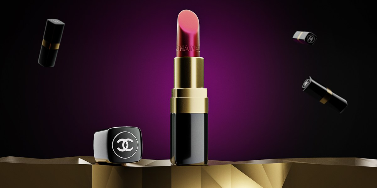 CGI Product Modelling of Chanel Lipstick