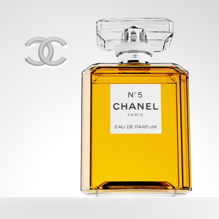 Chanel No 5 CGI Perfume bottle hero shot
