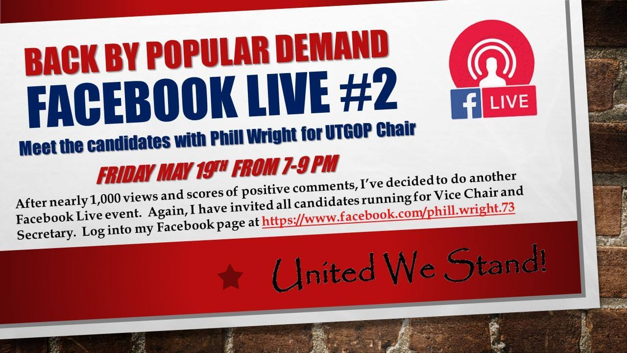 Phill Wright, Facebook Live Cottage Meeting