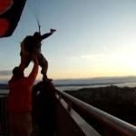 Superdell paraglides off the Astoria Column