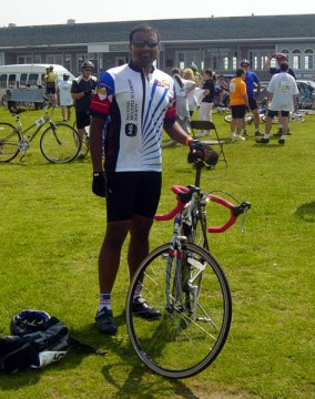 May 2004 at the MS Bike Tour, back when I was in my prime.