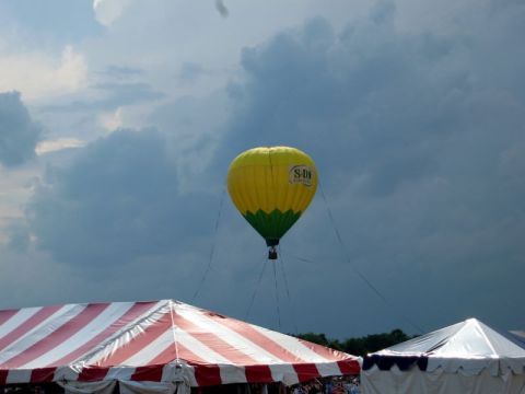 A hot air balloon at the Quick Chek Balloon Festival