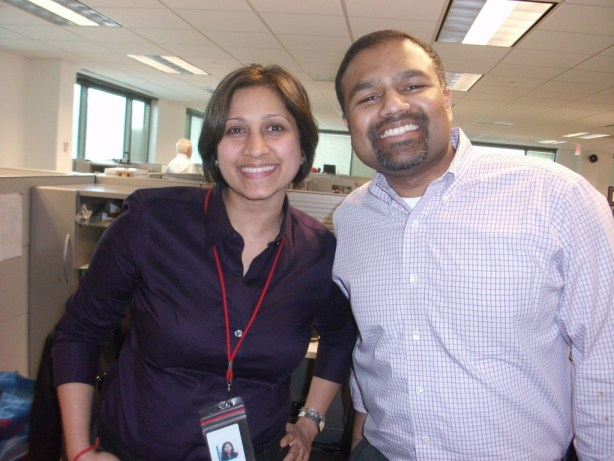 Last day in the office with Sai and I