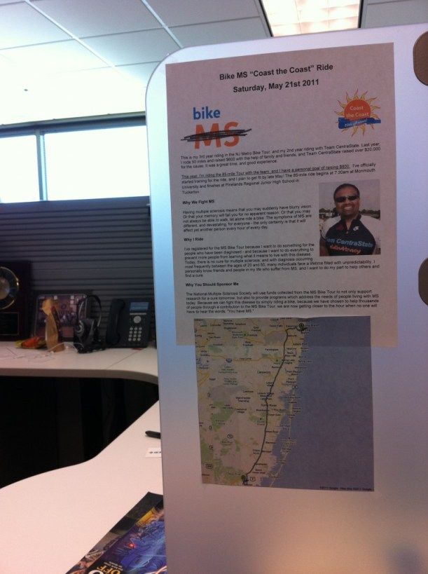 My version of subtlety to promote the MS Bike Tour