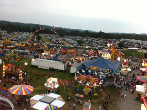 View from the ferris wheel - 2009 NJ Farm & Horse Show