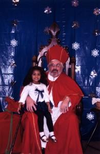 Lily with St. Nicholas - Dec 2011
