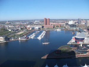 View of the Inner Harbor, Baltimore, MD