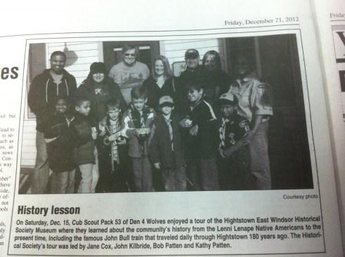 Josh & I in the newspaper