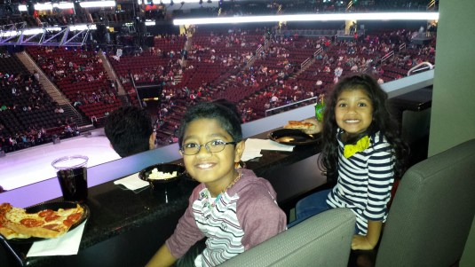 Watching the latest Disney On Ice show at the Pru Center