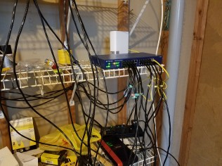 It's a work in progress, but everything is centralized in the basement