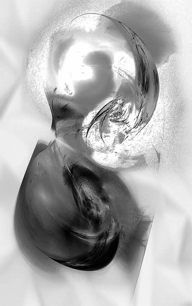 Sans titre, janvier 2017. Version 1 : noir et blanc.
