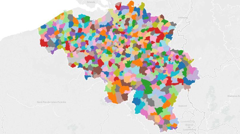 Carte Belgique Excel.Tuto Creer Des Cartes Personnalisees Polygones Avec