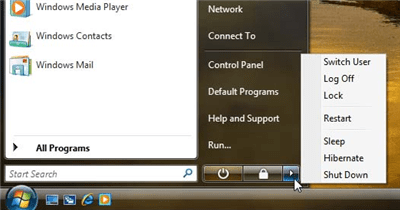 Image of windows Vista OFF button - from joelonsoftware.com