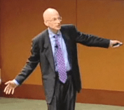 Picture of Seth Godin speaking at the Business of Software Conference, 2008
