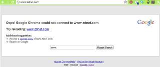 zdnet.com failure