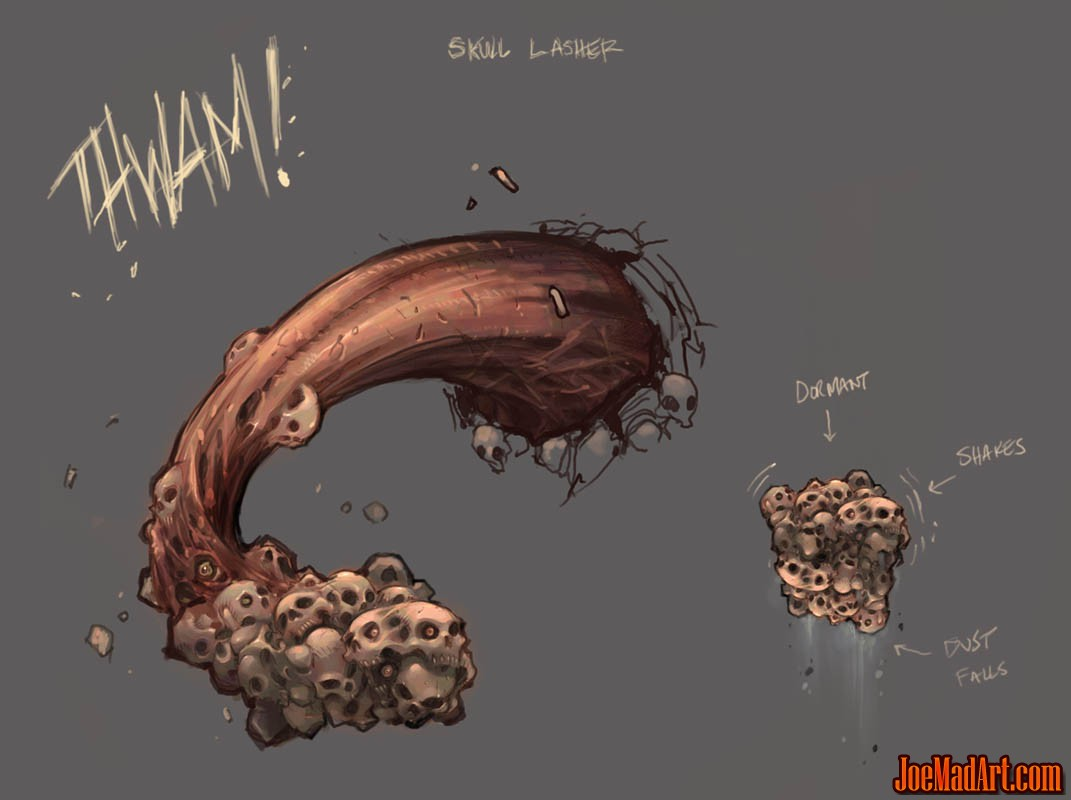 Darksiders Wallclimb Lasher Monster Concept Art
