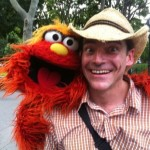 Sesame St Episode with Murray creating Time lapse artwork