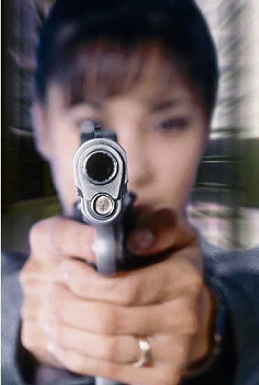 Woman Pointing Gun 02