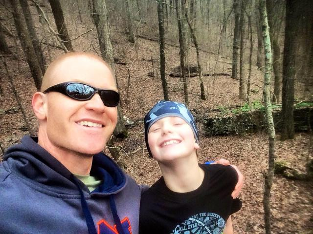 Another benefit of hiking. Selfies.