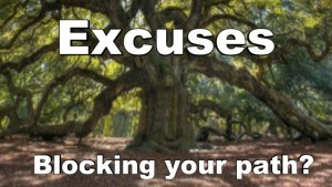 EXCUSES BLOCKING YOUR PATH