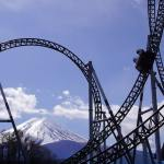 Black roller coaster over the Mountain during daytime