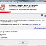 Virenschutzmeldung von Avast