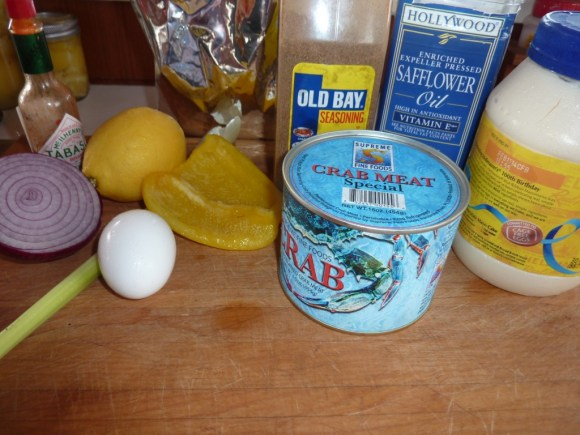 Delicious crab cakes ingredients. | joeshealthymeals.com