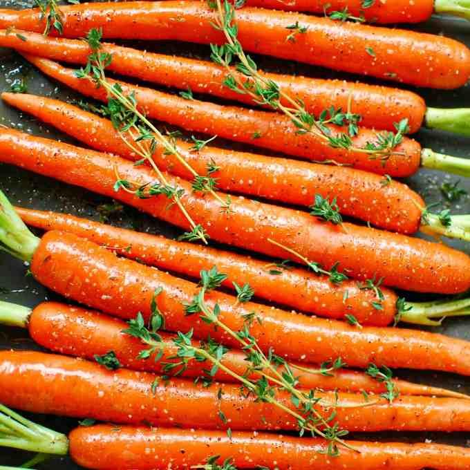 roasted carrots    joeshealthymeals.com