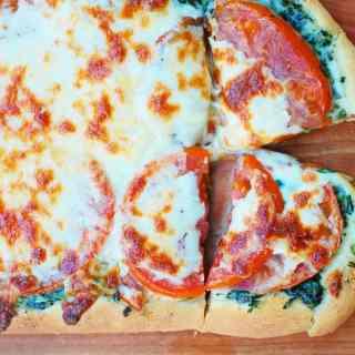 Spinach Tomato Pizza
